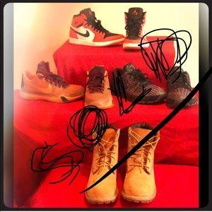 3 pairs of Boys sneakers & 1 pair of Timberlands